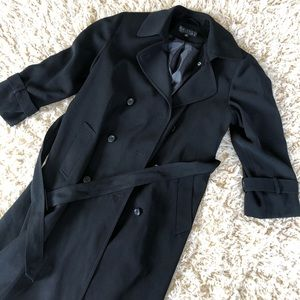 Gallery belted trench coat petite black